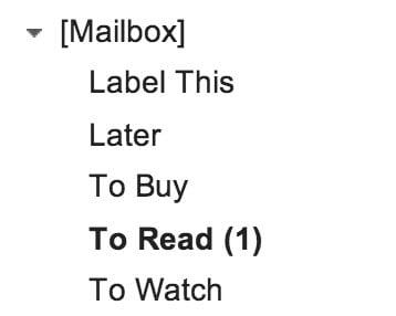 Mailbox label